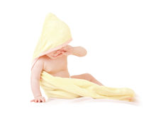 Small baby on white background Stock Photography