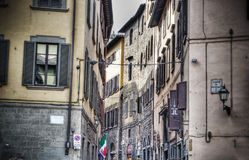Small backstreet in hdr in Florence Stock Photo
