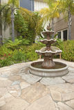 Small backyard garden fountain San Diego California. Royalty Free Stock Image
