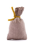 Small bag. On white background royalty free stock image