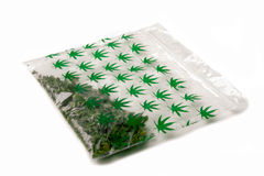 Small bag of cannabis (marijuana) Stock Photography