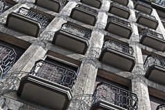 Small balconies pattern  Stock Photos