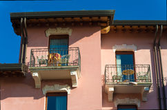 Small balconies Stock Image
