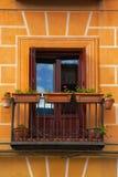 Small balcony on the facade Stock Photos