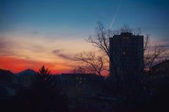 Small Balkan Town Evening Stock Photos
