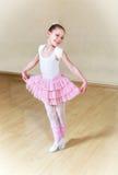Small ballerina at dancing school Royalty Free Stock Images