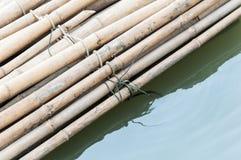 Small bamboo raft Stock Image