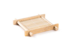 Small bamboo serving tray for tea ceremony Stock Photos