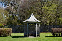 Small bandstand. In park during spring Stock Photography