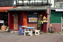 Small bar in Chiang Rai royalty free stock image