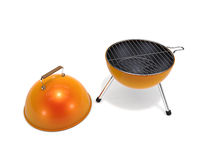 Small barbecue grill. 3d rendered small barbecue grill on white background Royalty Free Stock Photos