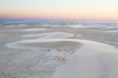 Small barchan dunes on the beach Stock Photography