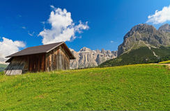Small barn in Dolomiti Stock Photo