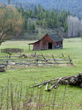 Small barn in pasture. Royalty Free Stock Photo