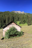 Small barn in Val di Fassa Royalty Free Stock Images