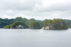 Small barren chalk islands, Indonesia Stock Photo