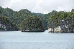 Small barren chalk islands, Indonesia Stock Image