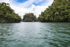 Small barren chalk islands, Indonesia Royalty Free Stock Photos