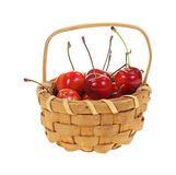 Small Basket Cherries Royalty Free Stock Image