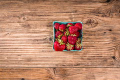 Small basket of fresh strawberries Stock Image