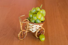 Small basket with grapes Royalty Free Stock Images