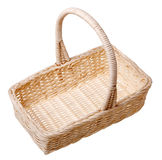 A small basket (isolated). A small basket isolated on white background Stock Photography