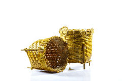 Small basket made in thailand. Gift small basket made in thailand Royalty Free Stock Photo
