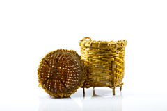 Small basket made in thailand. Gift small basket made in thailand Stock Photos