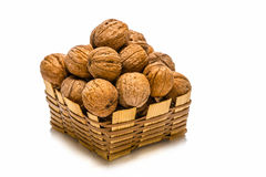 Small basket of walnuts Stock Image