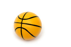 Small Basketball Toy. On white background Royalty Free Stock Photography