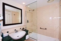 Small Bathroom. A small bathroom in a 4 star hotel Stock Photography