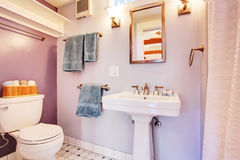 Small bathroom interior Royalty Free Stock Images