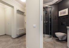 Small bathroom placed in hall Royalty Free Stock Photos