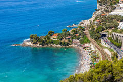 Small bay and beach on French Riviera. Stock Photos