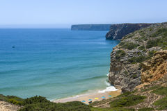 Small bay and beach in Sagres, Portugal Stock Images