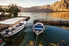 A small bay with boats Royalty Free Stock Image