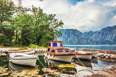 A small bay with boats Royalty Free Stock Images