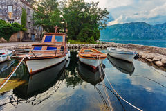 A small bay with boats Royalty Free Stock Photos