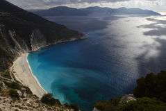 Small bay on the broken coast. Mirtos, Kefalonia, Greece Stock Photography