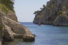 Small Bay in Calanques, France Stock Images