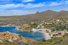 Small bay at Cape Sounion Royalty Free Stock Image