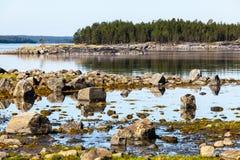 Small bay and coastline of the White sea, Arctic ocean, Karelia, Russia