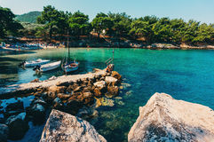 Small bay in Greece Royalty Free Stock Photo