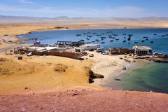 Small bay in Peru. South America, Paracas National Park royalty free stock images