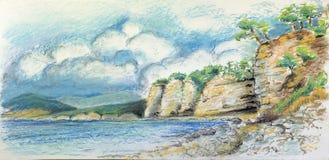 Small Bay on Sea coast. Small Bay on the Black Sea coast Royalty Free Stock Photos