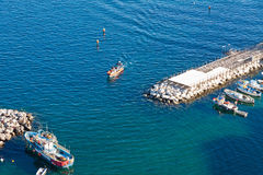 Small bay in Sorrento seacoast, Italy Royalty Free Stock Images