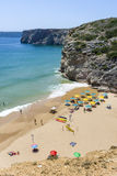 Small beach at the Atlantic Ocean in Sagres, Portugal Stock Images
