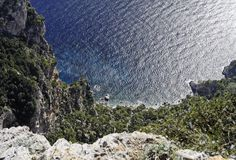 Small Beach in  Capri Royalty Free Stock Photography