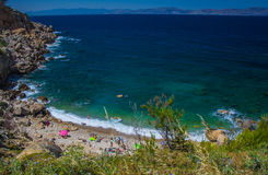 Small beach on the Costa brava. Close to Escala Royalty Free Stock Photos