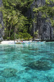Small beach in El Nido, Palawan - Philippines Royalty Free Stock Photos